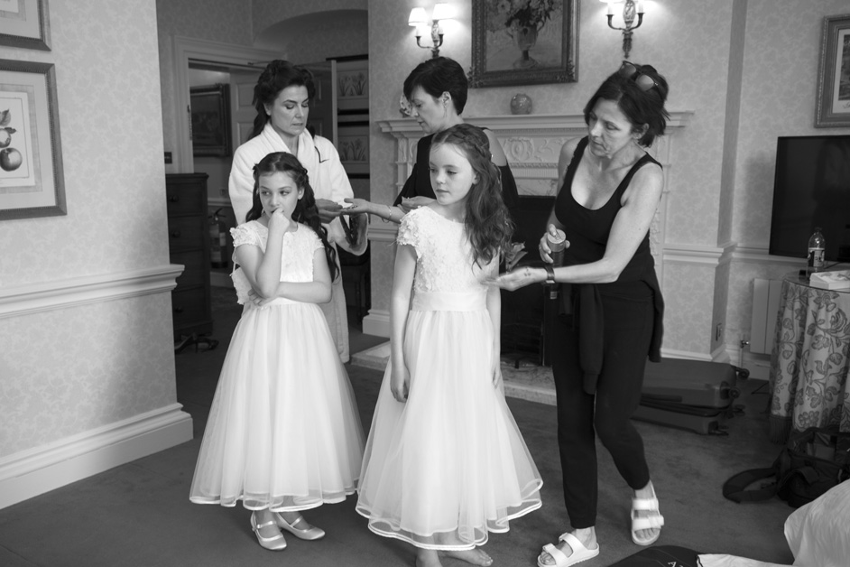 bride and bridesmaids getting ready at The Shelleys in Lewes