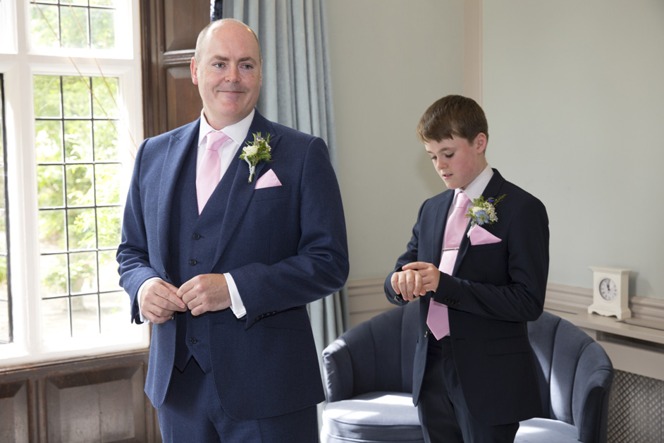 Groom and best man son waits for the bride at Lewes Register Office