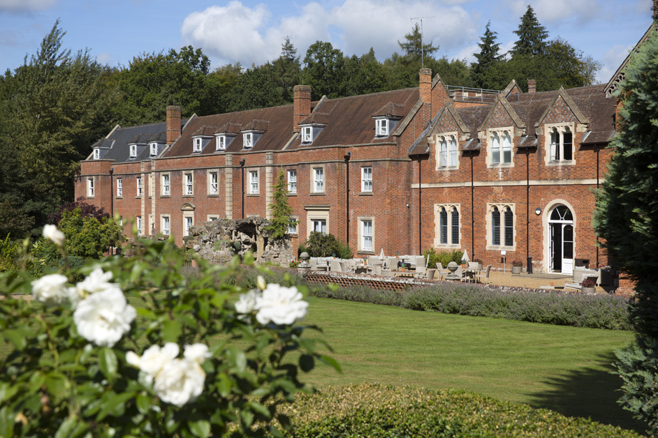 back view of beautiful Wotton House in Dorking, Surrey