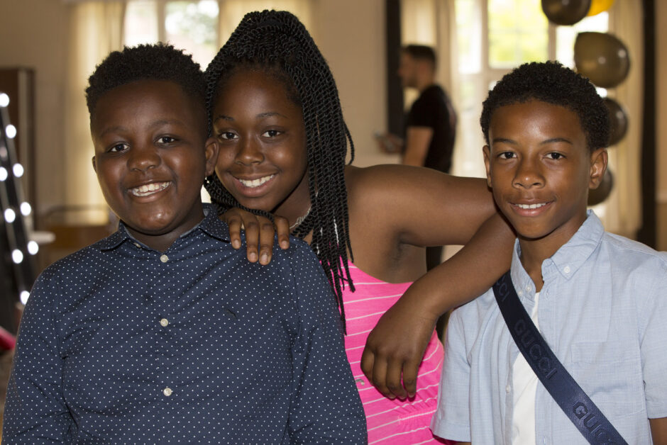 children at evening wedding reception at The Assembly Halls in West Wickham, Kent