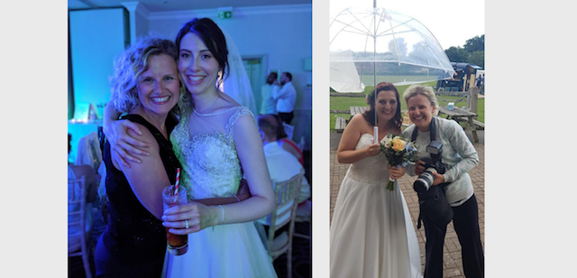 Victoria Green wedding photographer with her brides Kathleen at Wotton House and Gemma in Uckfield
