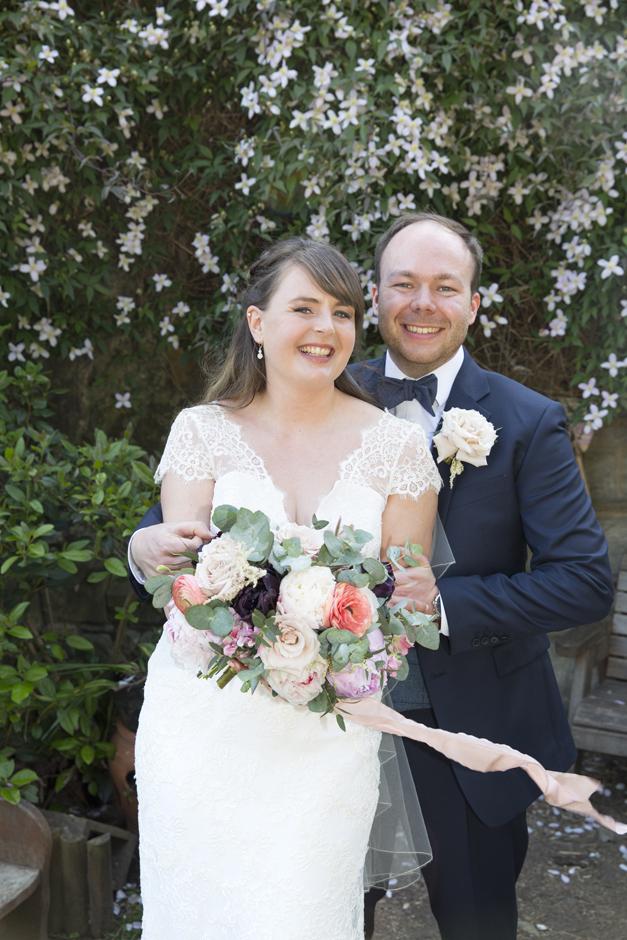 Bride and Groom portrait at Tonbridge wedding in Kent