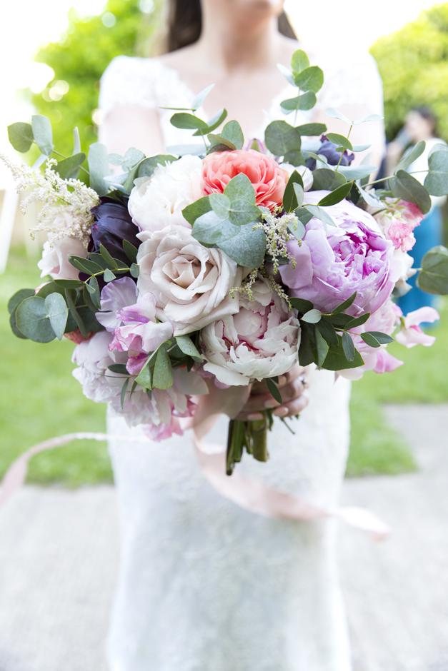 Bride's bouquet at Tonbridge wedding in Kent