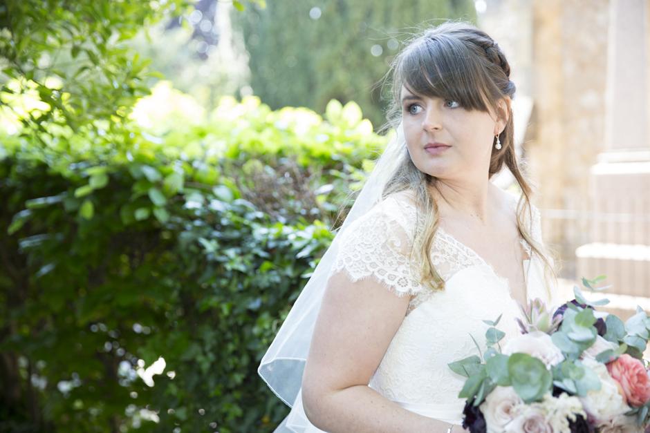 Bride portrait at Tonbridge wedding in Kent