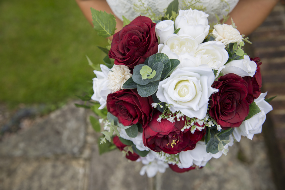 Silk flowers by Heather at Lily & Rose, captured by Kent wedding photographer Victoria Green