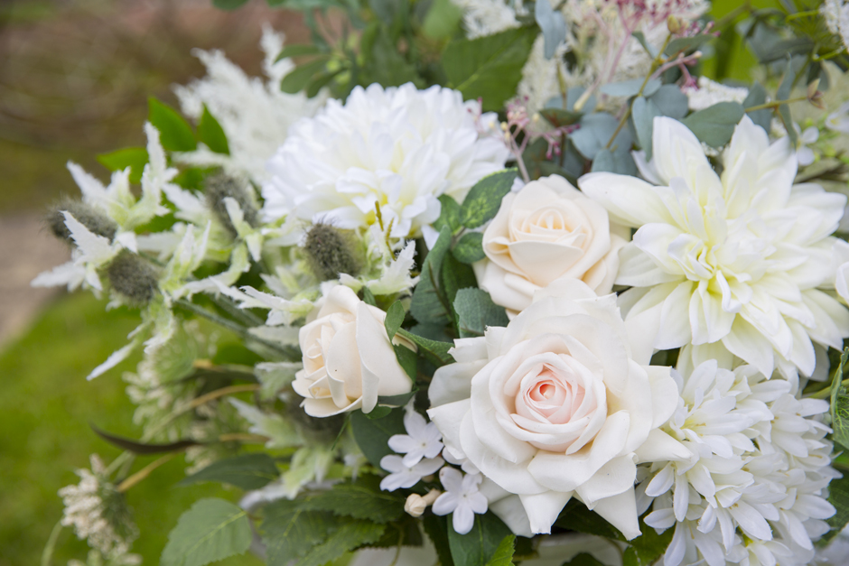 Silk flowers by Heather at Lily & Rose, captured by Tonbridge wedding photographer Victoria Green