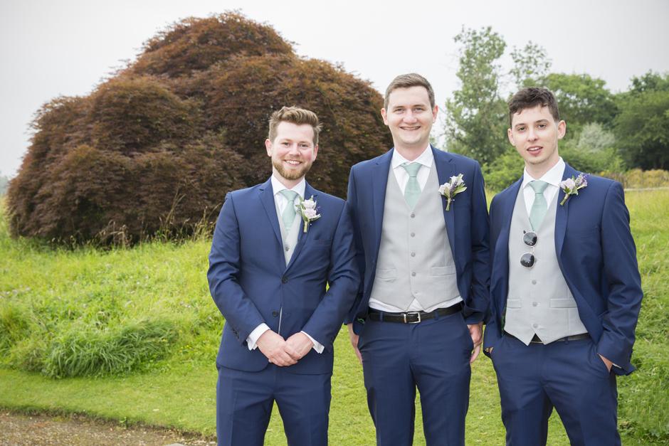 Groomsmen at Nettlestead Place wedding in Maidstone, Kent.