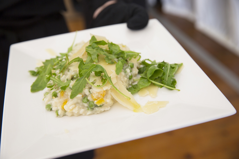 Wedding breakfast - risotto served at Nettlestead Place in Maidstone, Kent.